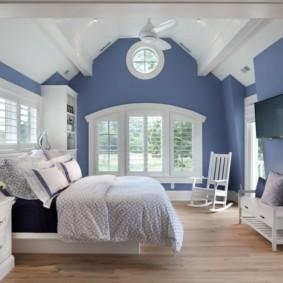 спальня в голубом цвете виды фото