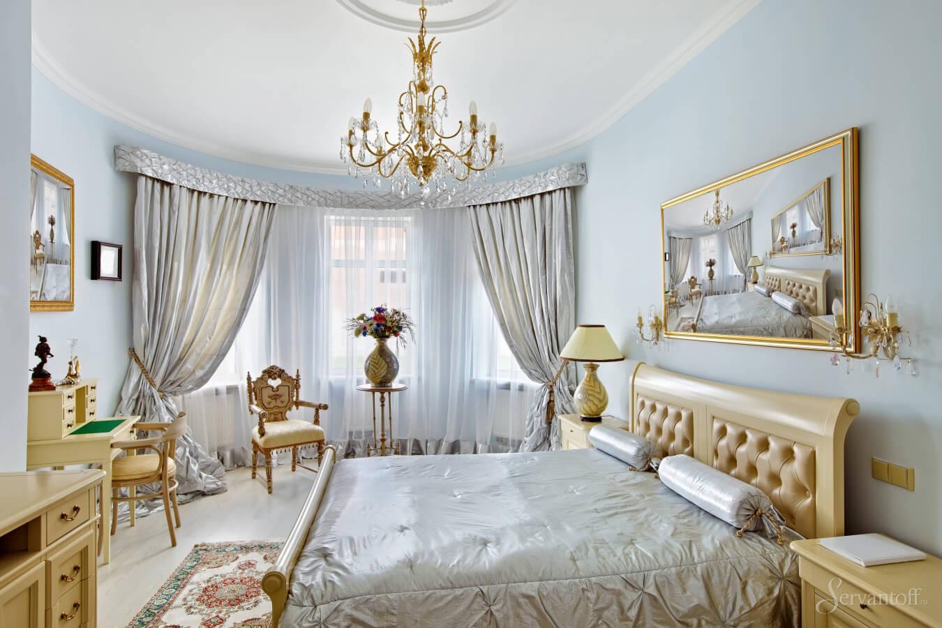 спальни в золотых тонах фото зеленые варианты