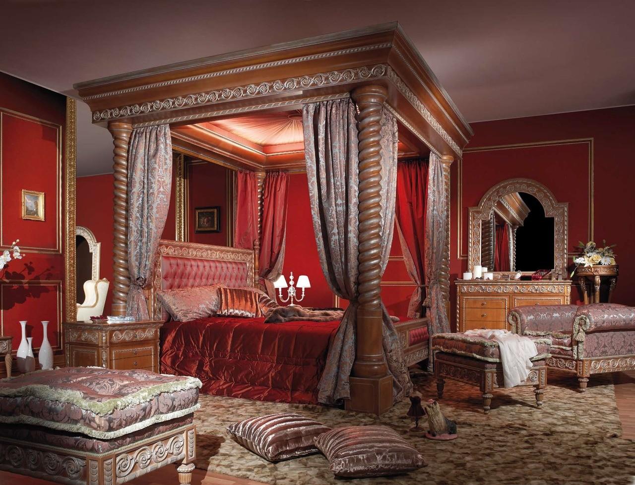 спальня в красных тонах декор идеи