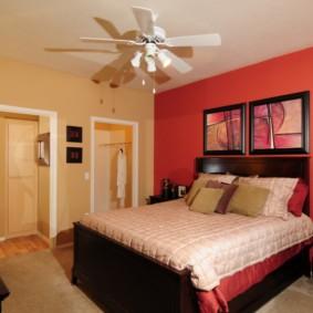 спальня в красных тонах фото видов