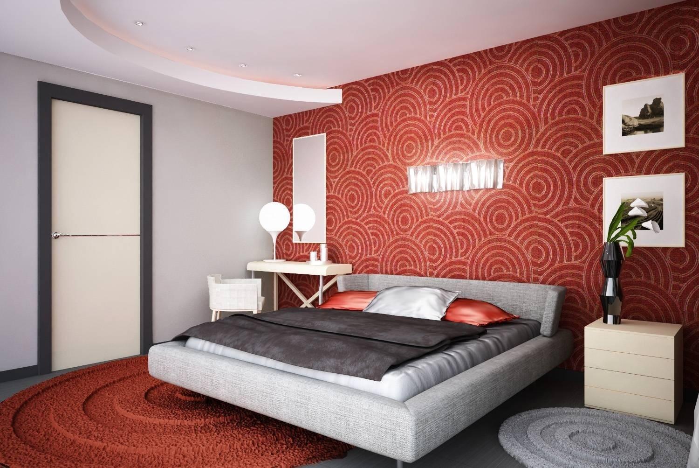 спальня в красных тонах идеи декор
