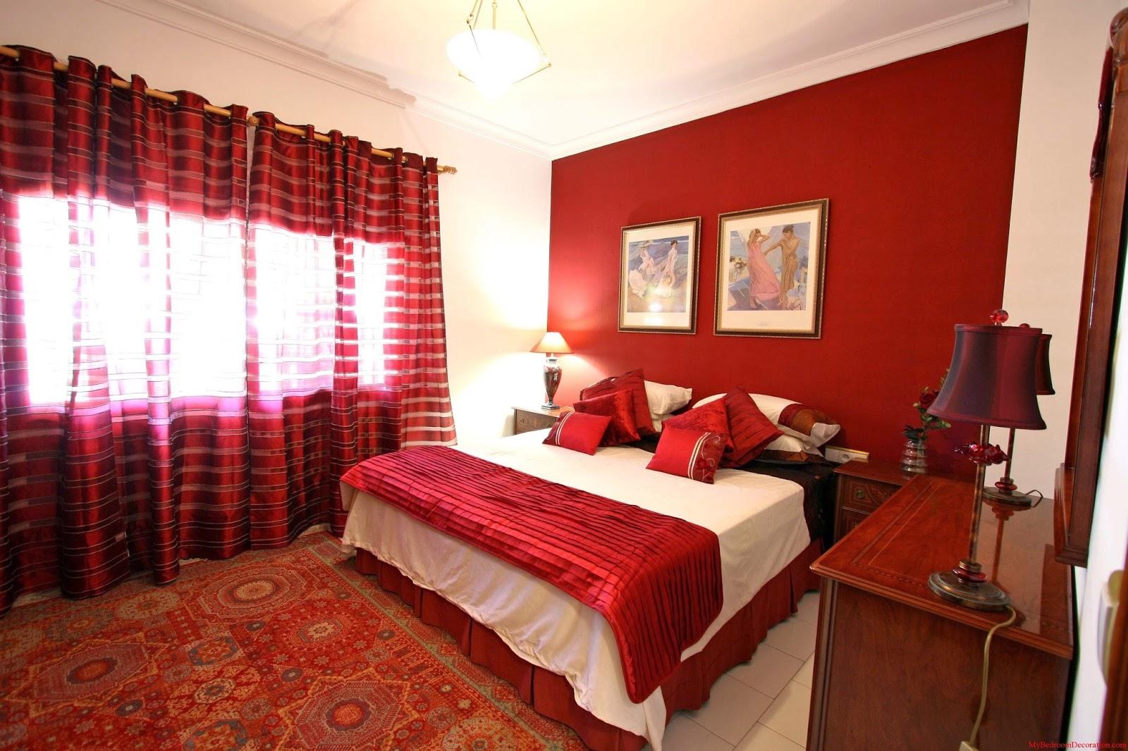 спальня в красных тонах идеи декора