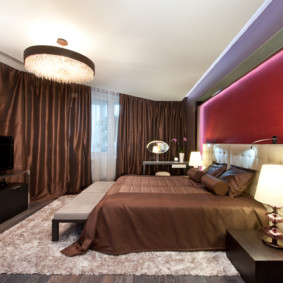спальня в красных тонах идеи дизайна