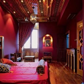 спальня в красных тонах идеи фото