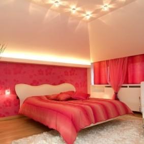 спальня в красных тонах идеи оформления