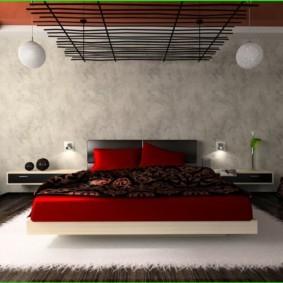 спальня в красных тонах идеи виды