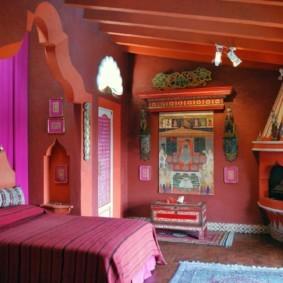 спальня в красных тонах интереьр идеи