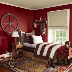 спальня в красных тонах варианты фото