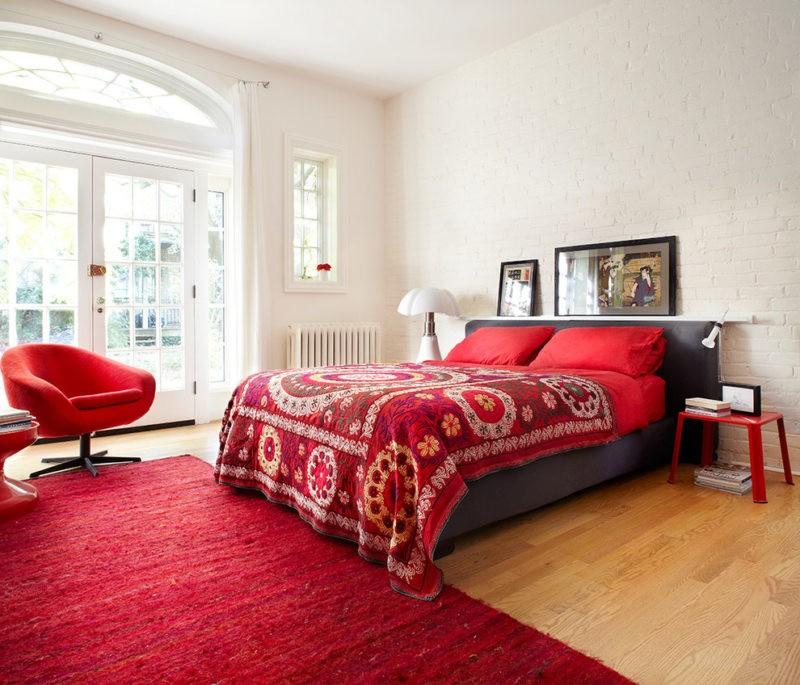 спальня в красных тонах варианты идеи
