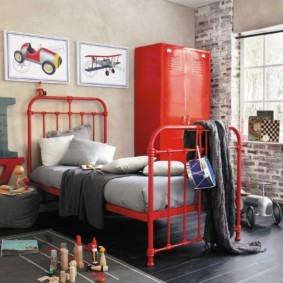 спальня в красных тонах виды идеи