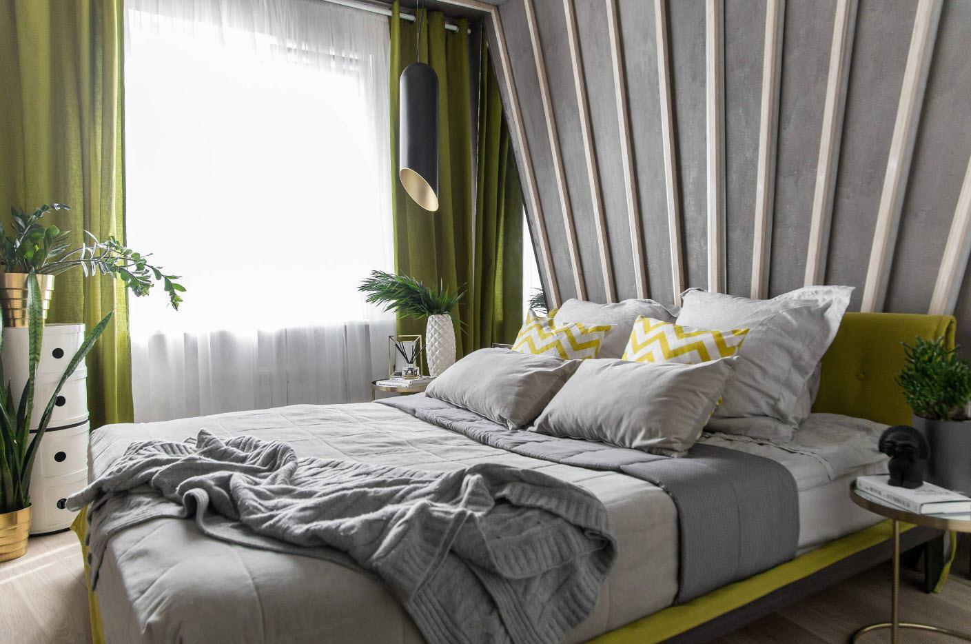 спальня в скандинавском стиле зеленая фото