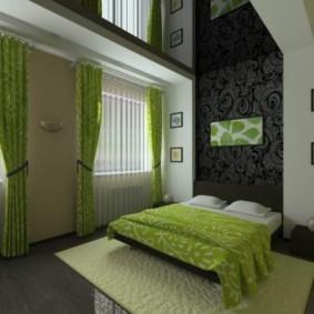 спальня в зеленых тонах декор фото