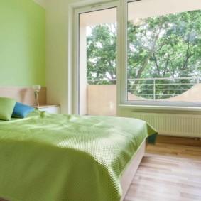 спальня в зеленых тонах идеи фото