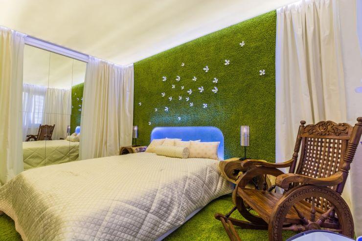 спальня в зеленых тонах идеи интерьер
