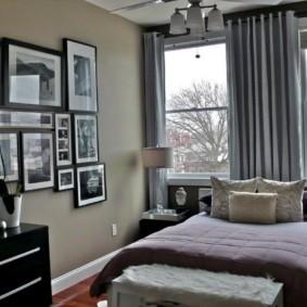 дизайн спальни 12 кв м интерьер фото