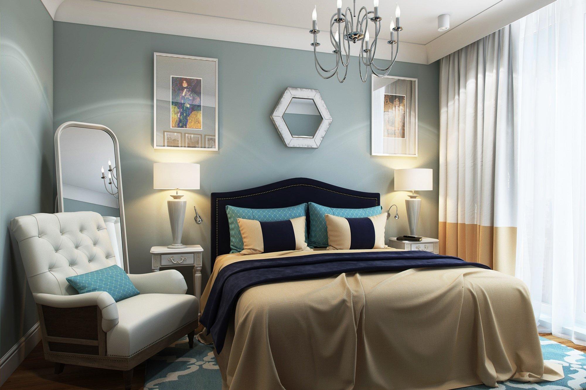 спальня 6 кв м фото