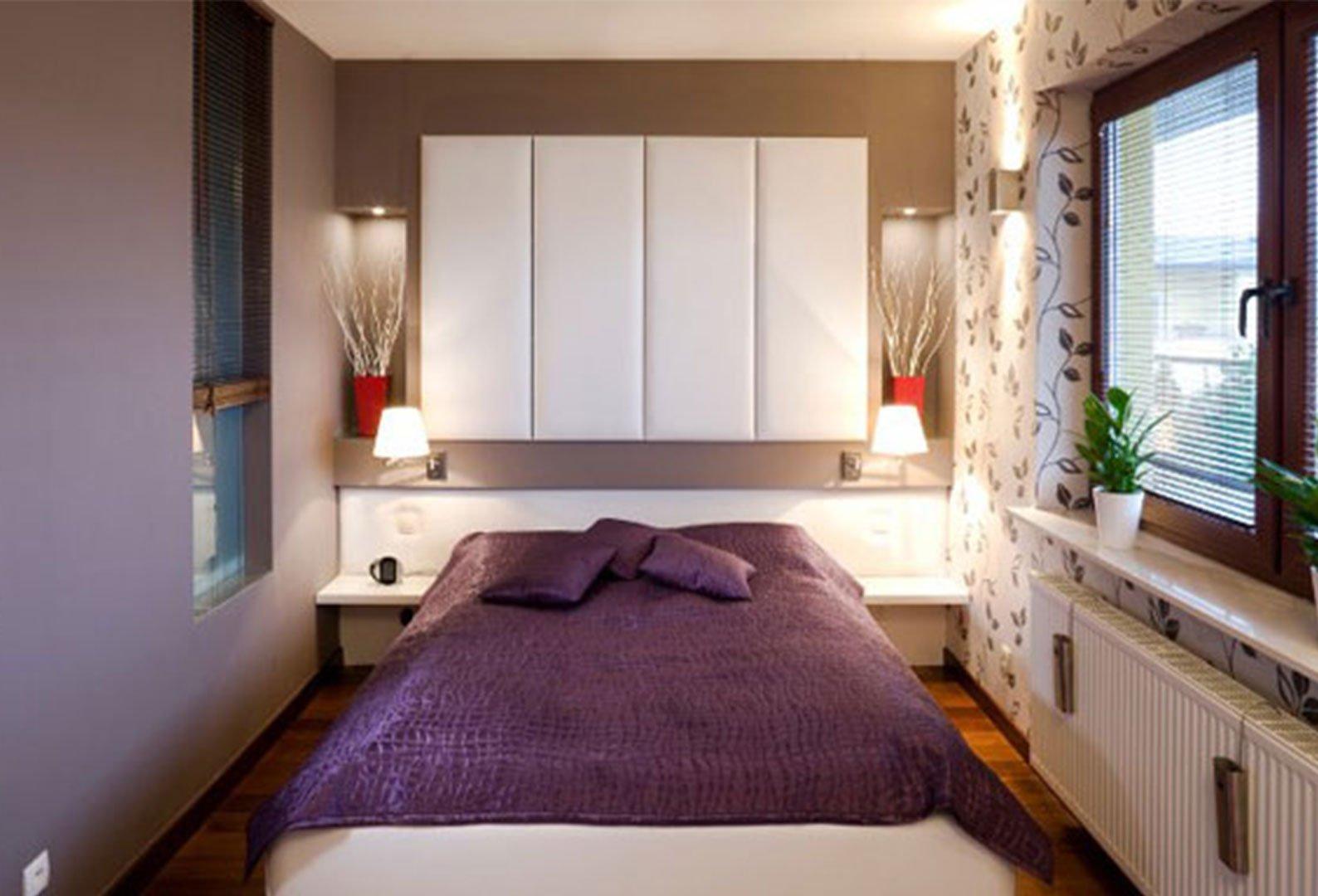 спальня 6 кв м идеи интерьер