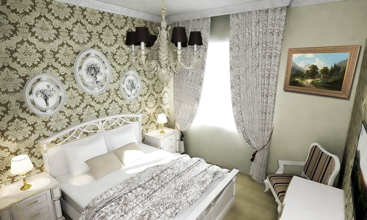 спальня 6 кв м идеи
