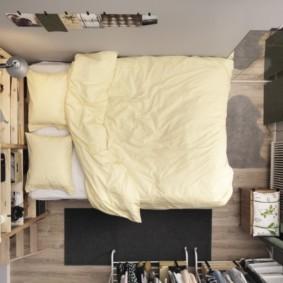 спальня 6 кв м варианты