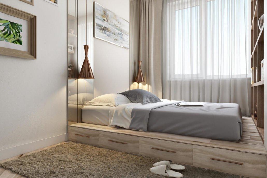 спальня 6 кв м интерьер идеи