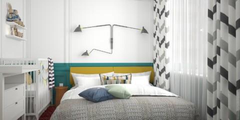 спальня 8 кв м фото
