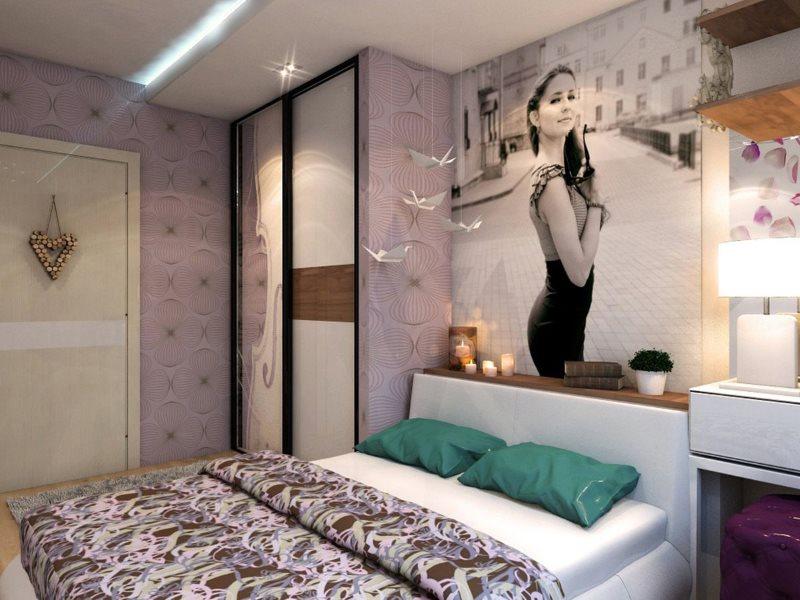 Современная спальня для молодой семьи
