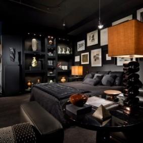мужская спальня дизайн фото