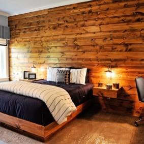 мужская спальня интерьер