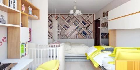спальня и детская в одной комнате декор фото