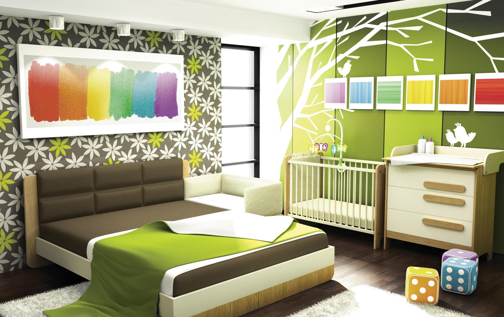 спальня и детская в одной комнате дизайн идеи