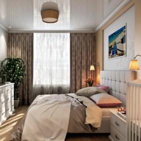 спальня и детская в одной комнате фото идеи