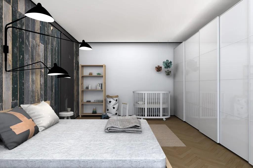 спальня и детская в одной комнате фото интерьер
