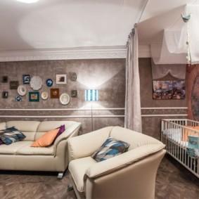 спальня и детская в одной комнате фото обзор