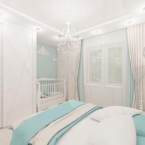 спальня и детская в одной комнате фото вариантов