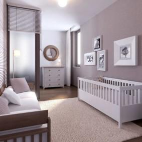 спальня и детская в одной комнате идеи декора