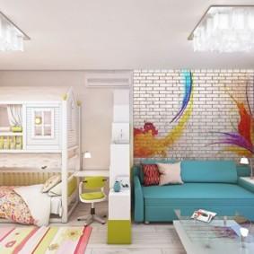 спальня и детская в одной комнате идеи обзоры