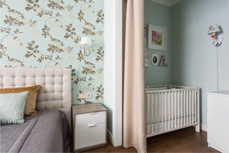 спальня и детская в одной комнате идеи видов