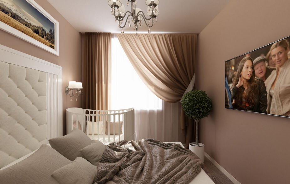 спальня и детская в одной комнате идеи