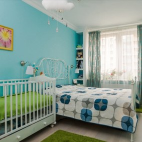 спальня и детская в одной комнате оформление фото