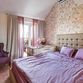 спальня и детская в одной комнате варианты фото