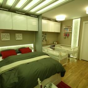спальня и детская в одной комнате варианты идеи