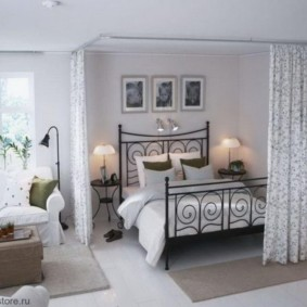 гостиная и спальня в одной комнате дизайн