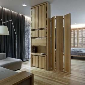 гостиная и спальня в одной комнате дизайн интерьер