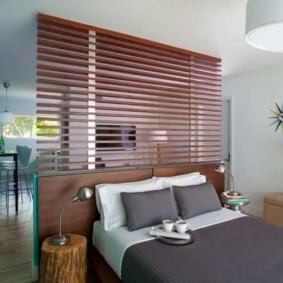гостиная и спальня в одной комнате дизайн интерьера