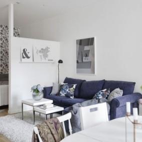 гостиная и спальня в одной комнате фото дизайн