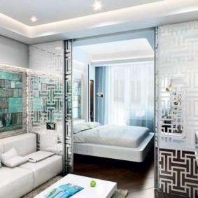 гостиная и спальня в одной комнате идеи интерьера