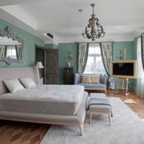 спальня площадью 17 кв м декор идеи