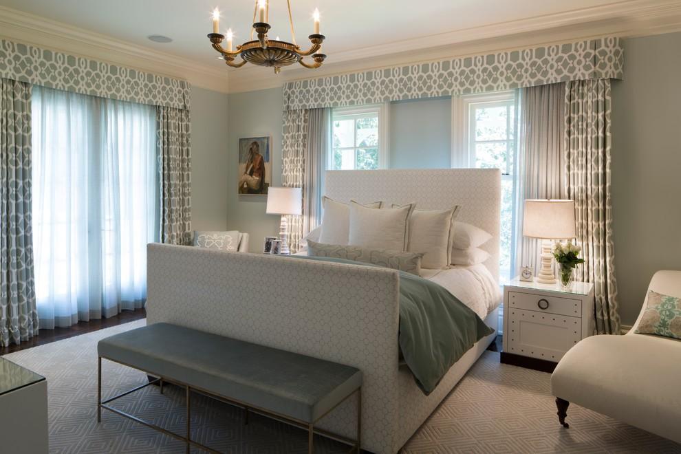 спальня с кроватью у окна дизайн идеи