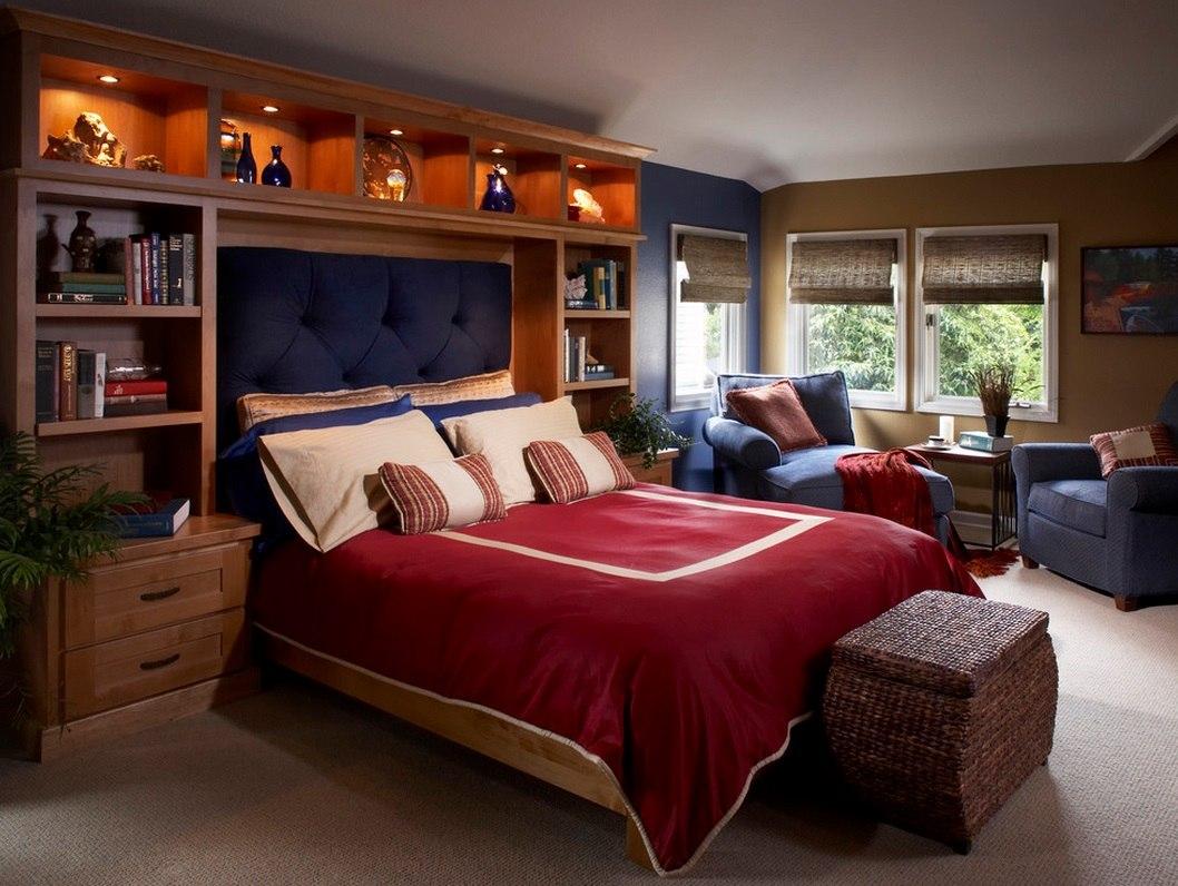 спальня с кроватью у окна фото интерьер
