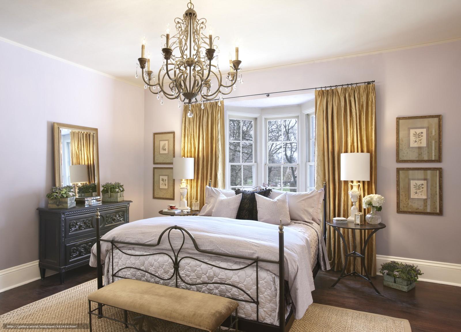 спальня с кроватью у окна фото